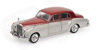 Modellauto:Bentley S2 von 1960, silber-dunkelrot(Minichamps, 1:18)