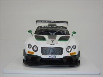 Modellauto:Bentley GT3 mit # 7 - Winner Silverstone 2014 -(TSM, 1:18)