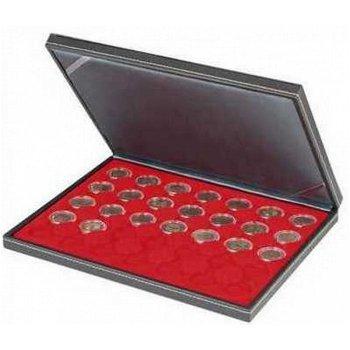 Nera Münzkassette M für 20 Euro Münzen, Münzeinlage rot, Lindner 2364-2111E