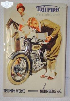 Blechschild:Triumph Motorräder(20 x 30 cm)