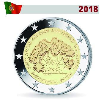 250 Jahre Botanischer Garten von Ajuda, 2 Euro Münze 2018, Portugal