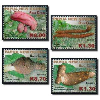 Wurzelgemüse - 4 Briefmarken postfrisch, Papua Neuguinea