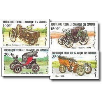 Alte Automobile – Briefmarken postfrisch, ungezähnt, Katalog-Nr. 722-725, Komoren