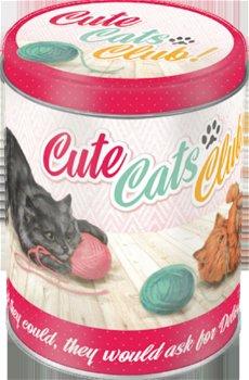 Nostalgische Blechdose:- Cute Cats Club! -(Nostalgic Art)