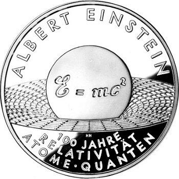 Albert Einstein - 100 Years of Relativity, 10 Euro Silver Coin 2005, Proof