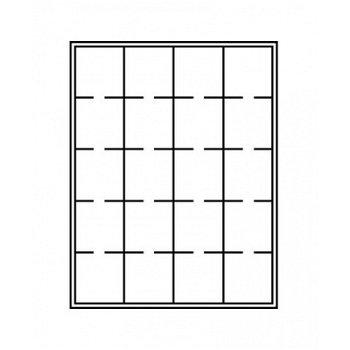 LINDNER Münzenbox, quadratische Vertiefungen 50mm, LI 2122, Marine