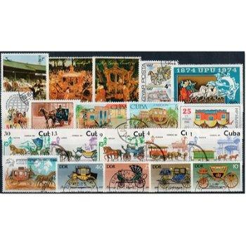 Kutschen - 50 verschiedene Briefmarken
