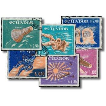 Erfolge in der Weltraumfahrt - 6 Briefmarken gestempelt, Katalog-Nr. 1208-1213, Ecuador