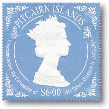 60. Thronjubiläum von Königin Elisabeth II - Briefmarke postfrisch, Pitcairn