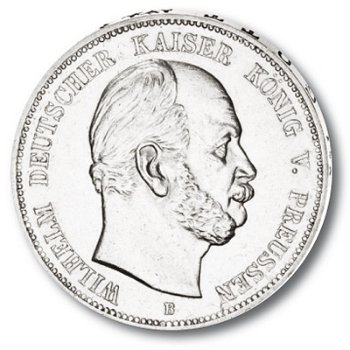 5 Mark Silbermünze, König Wilhelm I., Katalog-Nr. 97, Königreich Preußen