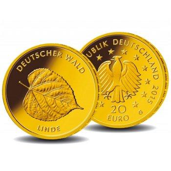 20 Euro Goldmünze 2015, Deutscher Wald: Linde