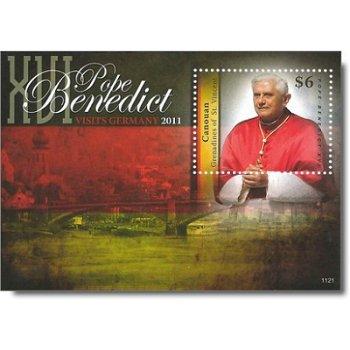 Besuch von Papst Benedikt XVI. in Deutschland - Briefmarken-Block postfrisch, St. Vincent und Grenad