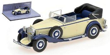 Modellauto:Maybach Zeppelin von 1932, weiß-blau(Minichamps, 1:43)