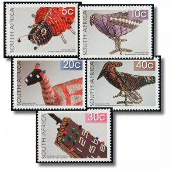 Perlenstickerei - 27 Briefmarken postfrisch, Katalog-Nr. 1989-2015, Südafrika