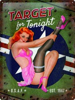 Blechschild:- Target for Tonight - (Nostalgic Art, 30 x 40 cm)