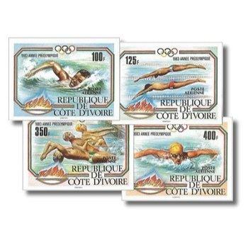 Olympische Sommerspiele 1984, Los Angeles - 4 Briefmarken ungezähnt postfrisch, Katalog-Nr. 787B-790