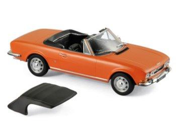 Modellauto:Peugeot 504 Cabriolet von 1970, orange(Norev, 1:18)
