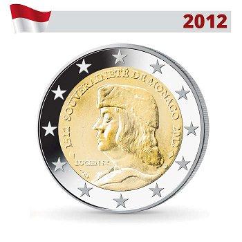 500 Jahre Souveränität, 2 Euro Münze 2012 prägefrisch, Monaco