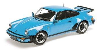 Modellauto:Porsche 911 Turbo von 1977, blau(Minichamps, 1:12)