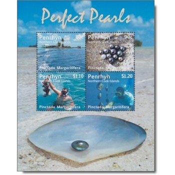 Perlen - Briefmarken-Block postfrisch, Penrhyn
