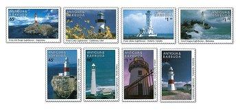 Leuchttürma - 8 stamps MNH, Antigua & Barbuda