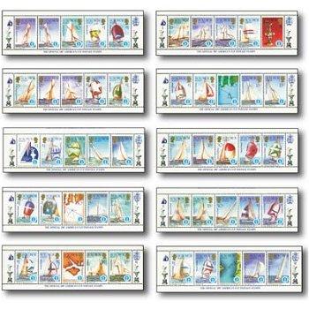 Segeljachten - 50 Briefmarken postfrisch, Salomon-Inseln
