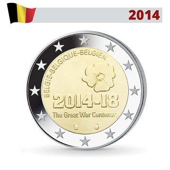 100 Jahre Erster Weltkrieg, 2 Euro Münze 2014, Belgien
