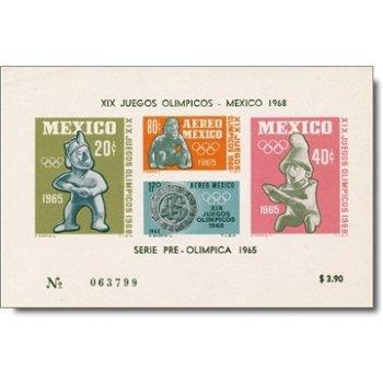 Olympische Spiele Mexiko - Briefmarken-Block postfrisch, Mexiko