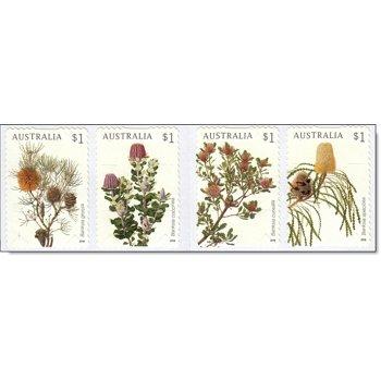 Pflanzen: Banksien - 4 Briefmarken postfrisch, selbstklebend, Österreich