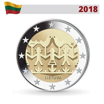 Gesang- und Tanzfestival, 2 Euro Münze 2018, Litauen