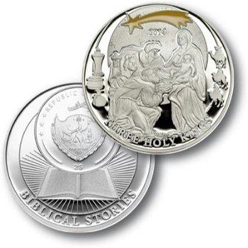 Die Drei Weisen, Silbermünze Palau