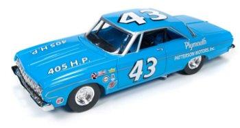 Modellauto:Plymouth Belvedere - Richard Petty - von 1964(Autoworld, 1:24)