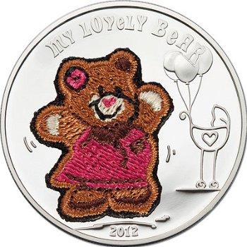 Zauberhafter Teddybär, Silbermünze, Palau