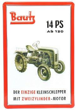 Blechschild:Bautz Kleinschlepper(20 x 30 cm)