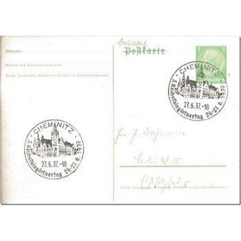 """2001 Chemnitz - Ganzsache """"Reichskleingärtnertag"""""""