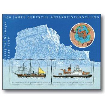 100 Jahre deutsche Antarktisforschung , Block 57 postfrisch, Katalog 2229-2230, Bundesrepublik