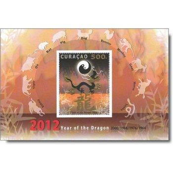 Chinesisches Neujahr: Jahr des Drachen – Briefmarken-Block postfrisch, Katalog-Nr. 83, Block 5, Cura