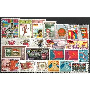 Flaggen und Wappen - 100 verschiedene Briefmarken