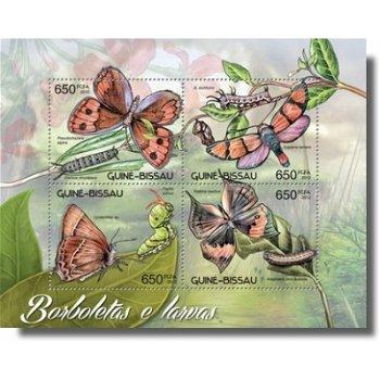 Schmetterlinge - Briefmarken-Block postfrisch, Katalog-Nr. 6182-6185, Guinea-Bissau