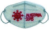 Mini-FFP2-Maske - Briefmarken-Block postfrisch, Österreich