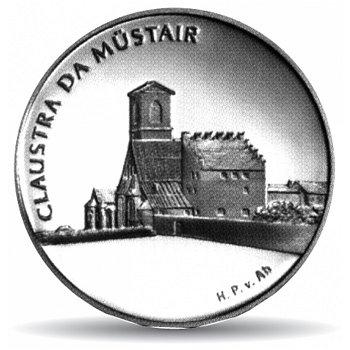 Kloster Müstair, 20 Franken Münze 2001 Schweiz, Stempelglanz