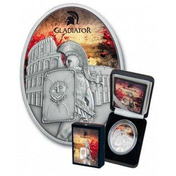 Helden des antiken Roms - Gladiatoren, 10 Dollar Silbermünze, Fiji