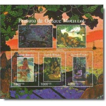 Gemälde von Octave Morillot - Briefmarken-Block postfrisch, Guinea-Bissau