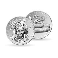 Arizona Rattlessnake: Oglala Lakota Sioux - 1 Dollar Silbermünze 2022, Polierte Platte, USA