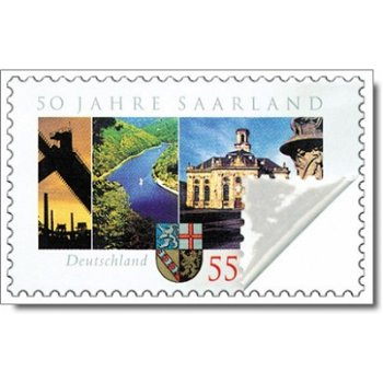 50 Jahre Bundesland Saarland - Briefmarke selbstklebend postfrisch, Katalog-Nr. 2595, Deutschland