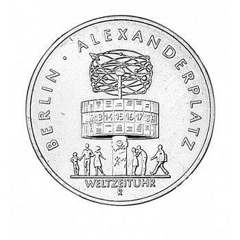 5-Mark-Münze 198, Weltzeituhr auf dem Alexanderplatz, DDR