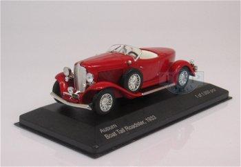 Modellauto:Auburn Boat Tail Roadster von 1933, rot(WhiteBox, 1:43)