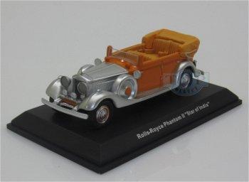 Modellauto:Rolls-Royce Phantom II Thrupp & Maberly - Star of India -, orange-silber(BoS, 1:87)