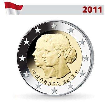 2 Euro Münze 2011, Hochzeit Albert II. & Charlene, Monaco
