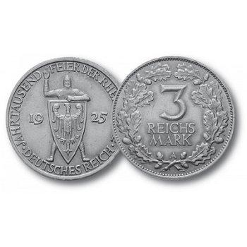 1000 Jahre Rheinlande, 3 Reichsmark, Jaeger-Nr. 321, Weimarer Republik